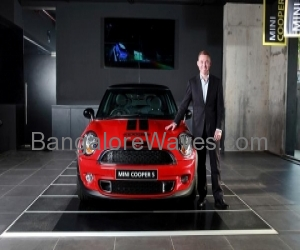 Dr. Andreas Schaaf, President, BMW Group India with the MINI